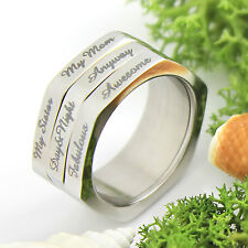 Spinner Ring 3 Line, Compliment Generator, Moms Ring, Sisters Ring