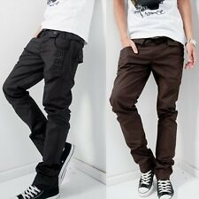 Fashion Men Stylish Designed Straight Slim Fit Pants Trousers Casual Long Pant