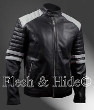 Fight Club Hybrid Mayhem Tyler Durden Brad Pitt Black & White Jacket