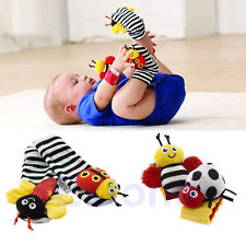 Hot Infant Baby Kids Ladybug Bee Wrist Foot Socks Rattles Hand Foot Finders Toys