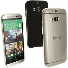Glossy TPU Gel Skin Protect Case Cover for HTC One M8 2014 + Screen Proctector