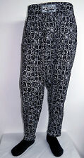 vtg BLACK Native WHITE Square Rocks HAMMER PANTS 80s commando parachute funny mc