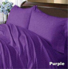 1000TC 1PC Purple Striped Split Corner Tailored Bed Skirt 100%Cotton All Sizes