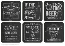 Brainbox Candy Chalk drinks coasters, beer mats funny rude gift birthday present