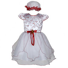 New Flower Girl Party Bridesmaid Wedding Pageant Dress in 5 Colours From 0M-12M