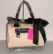 Betsey Johnson One and Only One Satchel Cream Tone NEW with tags**