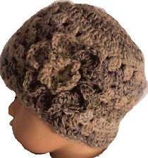 BABY CROCHET VINTAGE BEANIE HAT childrens winter knit flower bonnet anna 17