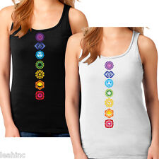 Chakra Ladies Tank. 100% Cotton. Mystical. Wicca. New Age. Yoga. Namaste. Pineal
