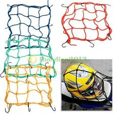 A1ST 30*30cm Motorcycle 6 Hooks Hold Down Fuel Tank Luggage Net Mesh Web Bungee