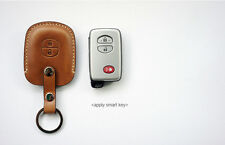 Leather Smart Key Chain Case Cover Fob For TOYOTA Prius