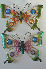 Beautiful Gem Metal Peacock Butterfly Wall Art Plaque