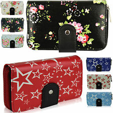 New Women Designer Floral Fashion Ladies Oilcloth Small Coin Purse Holder Wallet