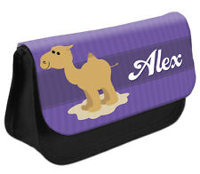 PERSONALISED Camel Pencil Case Make up Bag - Kids School Great Gift Idea DS