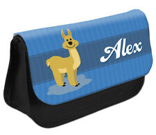 PERSONALISED Llama Pencil Case Make up Bag - Kids School Great Gift Idea DS