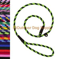 British Style Dog Slip Lead Training Quick Leash 4 foot 3/8 inch by Mendota