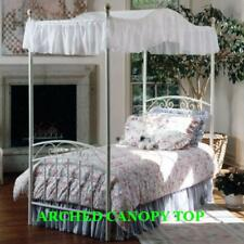 """Twin Size ARCHED Canopy top -LT BLUE EYELET 44""""wide x 89"""" long or custom size"""