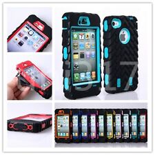 Tire Tracks Hybrid Combo Rugged Rubber Hard Case Cover For Apple iPhone 4 4s Hot