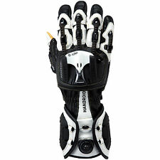 Knox Handroid Motorcycle Gloves Black/White Hand Armour Summer Motorbike Race