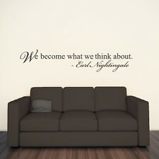 You Become What Wall You Think About Wall Sticker Earl Nightingale Wall Decal Ar