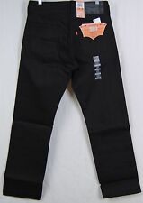 Levi's 501-1582 Black Fill Shrink-To-Fit Jeans All Black NWT All Size Avail