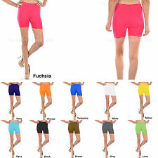 Ladies Stretchy Shorts Sexy Biker Exercise Yoga Workout Size XS,S,M,L Seamless