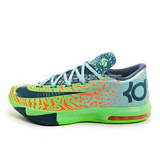 Nike KD VI [599424-302] Basketball Liger Electric Green/Night Factor-Orange