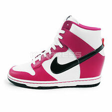 Nike WMNS Dunk Sky Hi [528899-502] NSW Casual Wedges Bright Magenta/Black-White