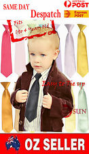 School Boys Kids Toddler Wedding Page Boy Satin Texudo Elastic Neck Tie Necktie