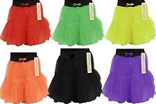 Girls 2 Layer Tutus Petticoats age 5-10 yrs Neon Bright Ballet Dress Up Stretch