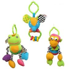 tiny love soft animal monkey frog elephant hanging baby toy rattle bell gift 1pc