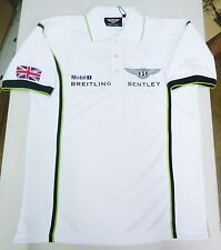 BENTLEY MOTORSPORT TECHNICAL WHITE POLO SHIRT OEM # BL-1075