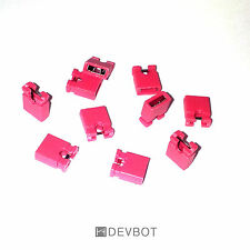 Lot de 5 à 100 Cavaliers Rouge, pas de 2,54 mm. Jumper. DIY, Arduino, Pi, CM, HD