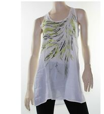 LUSHOUS Tunic Top Blouse Dress Layering Sz 8 10 12 14  White Feather Drape