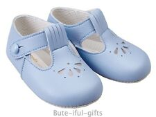 Bay Pod by Early Days Baby Boy Blue Pram Shoe 0-18 Mth Christening Occasion Shoe