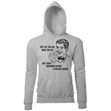 YOU ARE WHAT YOU EAT BUT I DONT REMEMBER EATING A LEGEND MENS PRINTED HOODIE