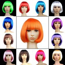 Womens Sexy Short Bob Cut Fancy Dress Wigs Play Costume Ladies Full Wig Party