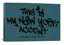 This is My New York Accent...(Blue) By Banksy Canvas Print #BNK43