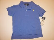 NEW POLO RALPH LAUREN blue yellow pony shirt baby infant toddler boys 9 mo