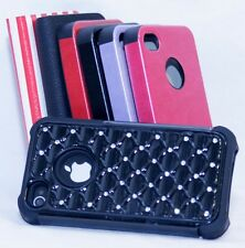 Luxury Hard Case Cover for Apple iPhone 4/4S Phone Wallet Cover Case Rhinestones