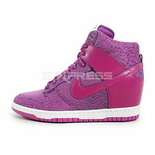 Nike WMNS Dunk Sky Hi TXT [644410-400] NSW Casual Wedges Slate/Bright Grape