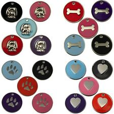Engraved Pet Tags DOG CAT ID Disc Disk 25mm Disc FREE Post & Deep Engraving!!!!