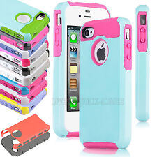 Hybrid Shock Proof Protective Impact Tough Hard Case Cover For Apple iPhone 4/4S