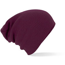 Supersoft Beechfield B461 Slouch Oversize Beanie Hat - Burgundy - Lot