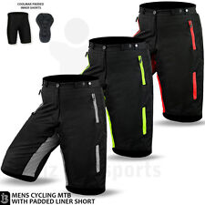 MTB Cycling Shorts Off Road Bicycle Bike With Padded Liner Short Size S-M-L-XL