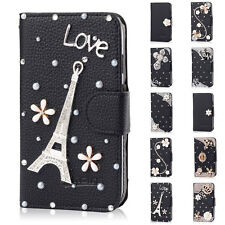 Bling Wallet Leather Flip Case Cover for Samsung Galaxy Grand Duos i9080 i9082
