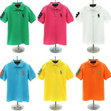 2014 Children's cotton short-sleeved Boys polo T-shirt 6 Color 2-7Y
