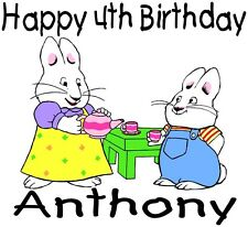Personalized Max and Ruby Cartoon Character Birthday T Shirt Toddler Youth
