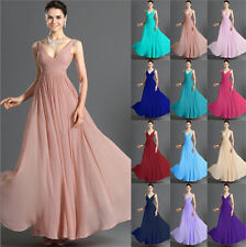 V-neck Formal Evening dress Bridesmaid Dress Long Gown Party dress Size 6++++16