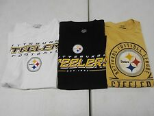 LOT OF 3 Pittsburgh Steelers TEE SHIRT MEDIUM M NWOT TAN WHITE BLACK