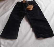 TIMBERLAND Toddler Boys 18m & 2yr NAVY BLUE CORD PANTS w/ADJUSTABLE WAIST - NWT